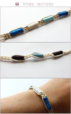 Lines Across: Make Your Own Thread Wrapped Beads