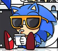 Listening to Sonic music like
