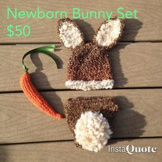 Baby Bunny Hat diaper cover and carrot set by mandag433 on Etsy, $50.00