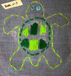Cassie Stephens: In the Art Room: Embroidery with Third Grade
