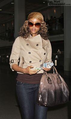 2cb9e898e9 Tyra Banks in Burberry Sunglasses  sunglasses  style  fashion  model   supermodel Discount