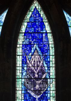 I want to see this! Millennium Window - Glasgow Cathedral (John Clark, 1999). Photo: Fr Lawrence Lew, O.P