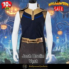 #Halloween Hot offer Get 70% OFF on #AvengersInfinity Josh Brolin Thanos Blue Vest. Shop From jacketsmasters.com #HalloweenSale #Sale #2021 #OOTD #Style #Cosplay #Costume #Fashion #Vest #fashionstyle #shopnow #Clothes #discountoffer #outfit #onlineshopping #discount #pumkinpatch #styleyourself #Halloween2021 #HalloweenGiftIdea #HalloweenCostume #halloween2021 #HalloweenClothes #HalloweenCostume2021 #HalloweenDay #Lettermans #Varsity #Bomber Fashion Wear, Men Fashion, Josh Brolin, Blue Vests, Movie Titles, Halloween Sale, Avengers Infinity War, Action Movies, Tv Series