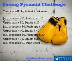 Boxing Pyramid Challenge Workout | Posted by: NewHowtoLoseBellyFat.com