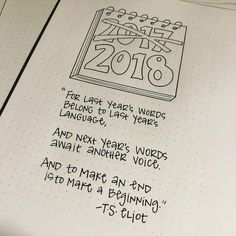 Bullet journal yearly cover page, New Year quotes. @nerdy.teacher