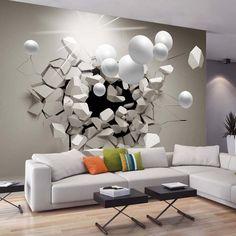 Effet 3D intéressant qui rend l'ambiance du séjour très personnelle et unique