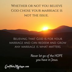 God is for your marriage!