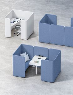 HUG MODULAR PODS - Designer Sound absorbing furniture systems from Fantoni ✓ all information ✓ high-resolution images ✓ CADs ✓ catalogues ✓. Office Furniture Design, Office Interior Design, Office Interiors, Hotel Lobby Design, Office Fit Out, Office Lounge, Open Office, Office Pods, Modular Office