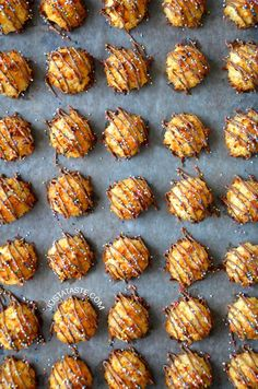 Coconut Macaroons with Chocolate Recipe from justataste.com
