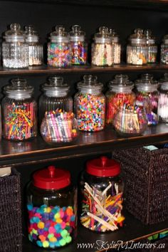 Awesome crafting station!!!!! This looks better than candy :)