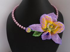 Necklace Orchid by Afina Beads