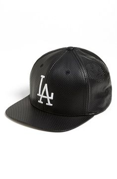 American Needle  Los Angeles Dodgers - Delirious  Faux Leather Snapback  Baseball Cap available at 4acd243a9a86