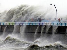 O tufão de número 18, Chaba, se transformou em sistema de baixa pressão na noite de quarta-feira (5), 21h45, deixando ventos fortes. Antes disso, causou desastres e várias vítimas na Coreia do Sul.