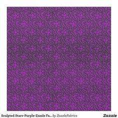 Sculpted Stars-Purple-Zazzle Fabric #zazzle #fabrics #purple #stars  http://www.zazzle.com/zazzlefabrics?rf=238170457442240176