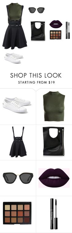 Sem título #319 by olivemontgomerie on Polyvore featuring moda, Sans Souci, Lacoste, Alix, Prada and Morphe