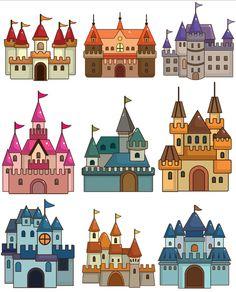 Grafika átlátszó háttérrel - vár, kastély Drawing Lessons For Kids, Art Lessons, Castle Crafts, 3rd Grade Art, Château Fort, Paper Dolls Printable, Terraria, House Drawing, Medieval Art