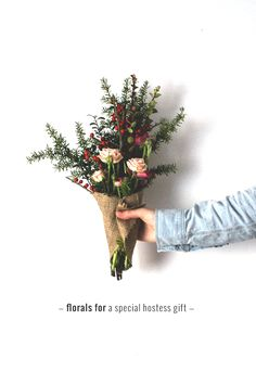 Bring a special hostess gift to your next holiday get-together! Next Holiday, Hostess Gifts, Blossoms, Florals, Centerpieces, Snow, Decorations, Gift Ideas, Garden