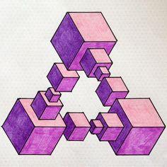 #impossible #opticalillusion #penrose #penrosetriangle #Escher #Mc_Escher #oscar…