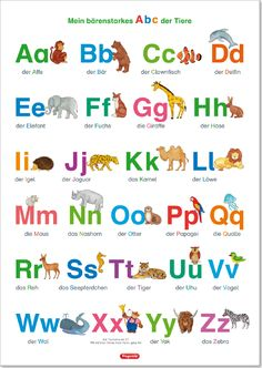 Playing Learning Publisher – Questionary – Learning Poster, The ABC with Wholesale and … – Buchstaben Lernen Abc Poster, Das Abc, Kindergarten Portfolio, Diy Crafts For Kids Easy, German Language Learning, Learn German, Toddler Fun, Lower Case Letters, School Fun