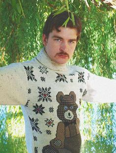 I don't know how I missed English Russia before, but I've always found parodies of Soviet culture hilarious, so it really punches me right in the funny bon Awkward Pictures, Tacky Sweater, Folk, Bad Fashion, Winter Is Here, Winter Fun, Funny Bunnies, Pulls, Christmas Sweaters