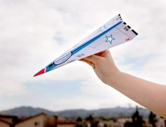 Free Full Throttle Paper Airplane Printable - We added a rubber band to the bottom for a catapult . . . so much fun!