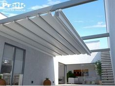 Aluminium pergola with sliding cover TECNIC ONE