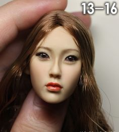 """59.00$  Watch here - http://aitsn.worlditems.win/all/product.php?id=32703622307 - """"1/6 scale female head shape for 12"""""""" action figure doll accessories doll head carved not include the body,clothes and other 13-16"""""""