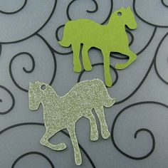 Horse Favor Tags - Qty 20 - Custom Color for Party Birthday. $4.50, via Etsy.