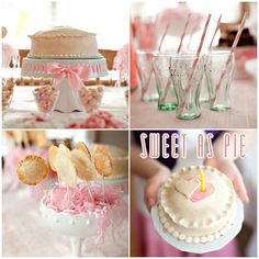 """Sweet as Pie"" 1st Birthday Party. This site has so many birthday theme ideas."