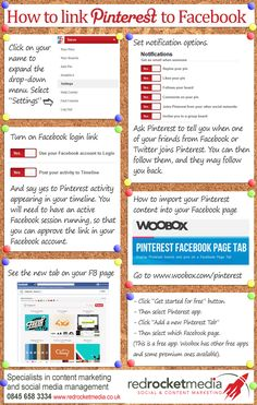 How to Link Pinterest and Facebook – an Instructographic