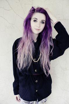 Dip dyed purple/ lavender hair  ( kayla hadlington)