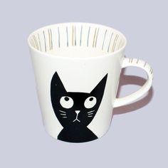 Cat-Themed Coffee Mugs | Cat-themed coffee and tea mug from artist Atsuko Matano