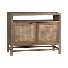 """Blake Grey Wash 42"""" Media Console. I really like this for the tv, even though it isn't a bookshelf. I think it could look really nice in my new place."""