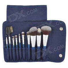 Shop for Top Sellers, including cool gadgets, accessories and fun gear at great prices on DealeXtreme. Makeup Brush Set, Cool Gadgets, Blue And Silver, Makeup Cosmetics, Brushes, Mirror, Accessories, Beauty, Set Of Makeup Brushes