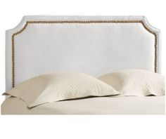 The elegant Bella Headboard from designer Suzanne Kasler creates the frame for your favorite fabric. Hardwood frame is generously padded for cozy comfort.