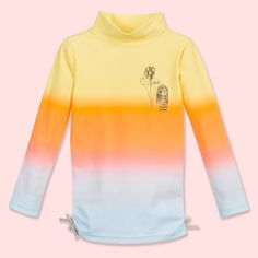Little Marc Jacobs Girls Yellow Ombre Sun Protective Top (UPF50+) at Childrensalon.com
