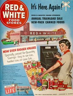 Red & White food stores, 1953