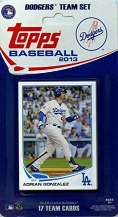 2013 Topps Los Angeles Dodgers Factory Sealed Special Edition 17 Card Team Set