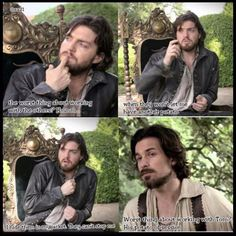 Hahaha I love this so much <3 Tom and his potato obsession! #TheMusketeers