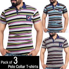 Oshi.pk is bringing a deal of Polo Collar Cotton Jersey T-Shirts (Pack of 3) in such low, reasonable and affordable price which you can't resist. So what are you waiting for? Come and grab this amazing product only at Oshi.pk!