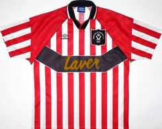 1994-95 Sheffield United Home Shirt L Vintage Football Shirts 277293e0d