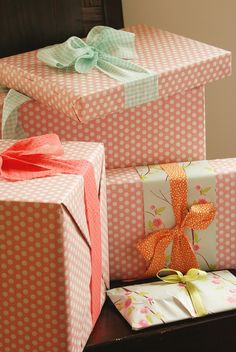 paper and fabric bows