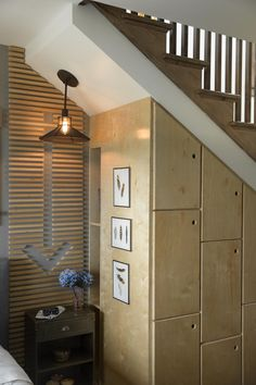Built-In Storage Under the Stairs