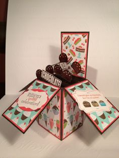 Card in a box- Sheila Veitch, Products used: Eat Chocolate (discontinued), Specialty Sweet Shop (discontinued)