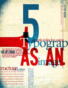 5 simple rules for using typograp as an image