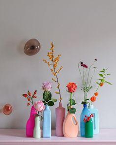 18 Incomparable Thrown Pottery Vases Ideas 6 Unbelievable Cool Tips: Greek Vases Scene vases decoration martha stewart.Floor Vases Pots copper vases tin cans. Flower Vases, Flower Arrangements, Aesthetic Room Decor, Modern Ceramics, Room Inspiration, Crafts, Pastel Room, Pastel Decor, Painted Porcelain