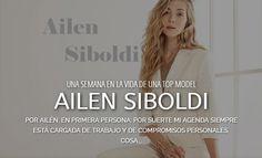 Esta de Moda te muestra como es una semana en la vida de una TOP MODEL - La prestigiosa Modelo Argentina Ailen Siboldi se presto a esta interesantisima nota de Está de Moda LA vívela en http://www.estademodala.com/una-semana-la-vida-una-top-model-ailen-siboldi/
