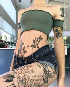 Fun, creative, rebellious, many people love getting tattoos and use them as a platform for self-expression. Tattoos can be satisfying both physically while looking at them and mentally when you con… Tattoo Girls, Girl Tattoos, Tatoos, Hippie Tattoos, Pretty Tattoos, Beautiful Tattoos, Piercing Tattoo, Body Art Tattoos, Small Tattoos