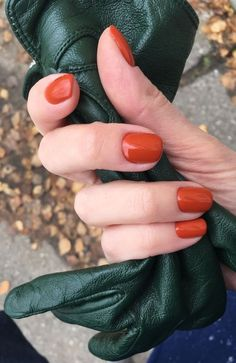 The 20 Trendiest Fall Nail Colors Fall Nails Inspiration Beauty Tips Fall Nail Polish, Nail Polish Colors, Fall Nails, Summer Nails, Orange Nail Polish, Nail Polishes, Fall Manicure, Gel Polish, Orange Nail Designs