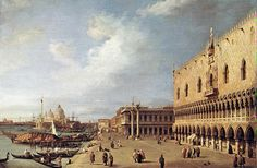 View of the Ducal Palace, Venice - Canaletto, 1730